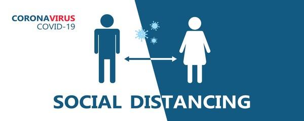 Biology and science. COVID-19. Coronavirus. Social distancing. Global alert. Pandemic.