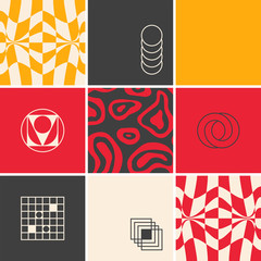 Colorful Geometric Vector Pattern Design