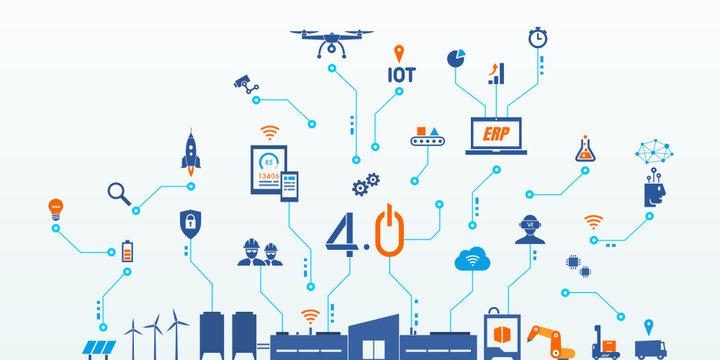 industrie 4.0, industry 4.0, usine du futur, smart industry, erp