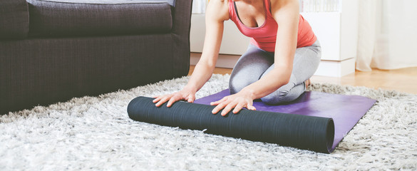 Woman ready for Yoga Exercise