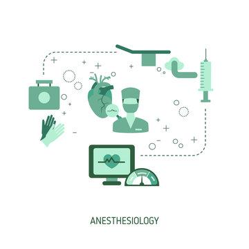 Vector Anesthesiology Concept