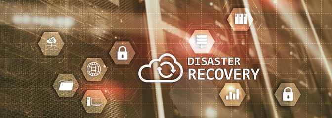 Disaster Recovery Plan for your corporation. Cyber Security concept 2020. Fotomurales