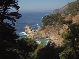 Coast at Big Sur near McWay Cove at Julia Pfeiffer Burns State Park, California, USA