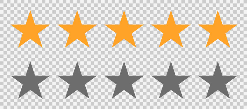 Rating stars icon. Star or 5 rate review. Vector web symbol. Ranking symbol