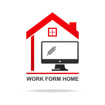 Work from home concept vector illustration,