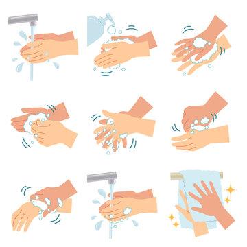 感染症予防のための正しい手洗いの方法