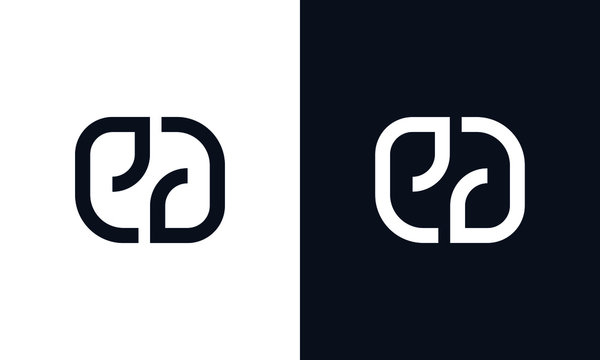Minimal elegant line art letter ED logo.This logo icon incorporate with letter E and D in the creative way.