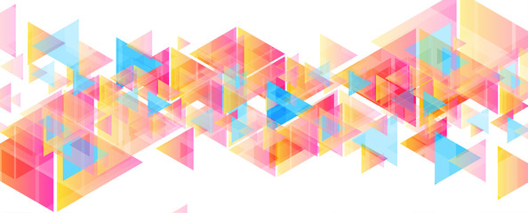 Fotobehang - Colorful pastel triangles abstract tech low poly background. Geometry vector design
