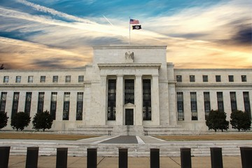 Federal Reserve Building in Washington DC, United States, FED Fotomurales