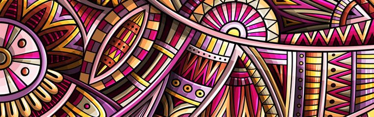 Fototapeta Abstract ethnic rug ornamental pattern. Vector vintage background. obraz