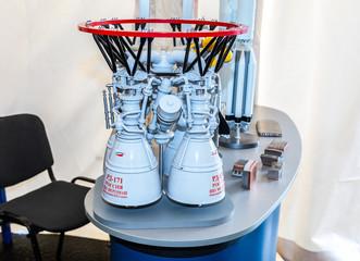 Mockup of space rocket engine RD-171