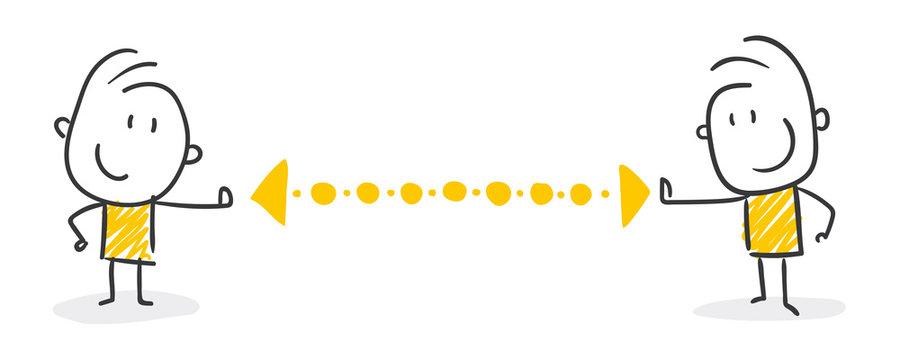 Strichfiguren / Strichmännchen: Abstand halten. (Nr. 454)