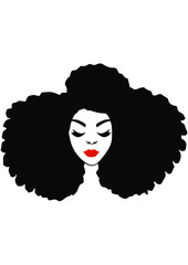 Afro Woman eps, Black Woman eps,Afro Girl Silhouette eps, Black Girl eps, Clipart, Natural Hair eps, Afro Hair eps, Cut files,