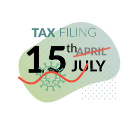 Tax Return Date updated to 15 July due to coronavirus - Icon