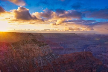 Printed roller blinds Eggplant Sunset at Grand Canyon National Park