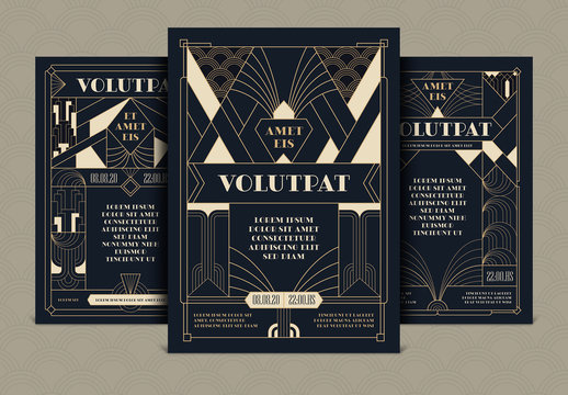 Art Deco Flyers Layouts