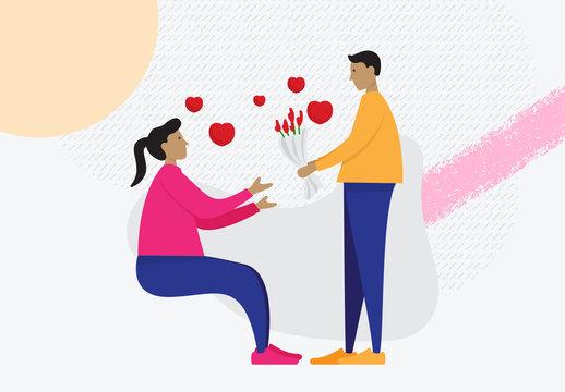 Valentines Day Illustrations Art Kit