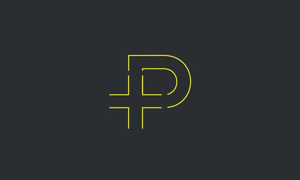 An abstract PLUS + P logo design