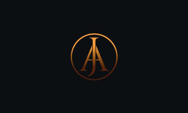 JA AJ J A Letter Logo Alphabet Design Template Vector