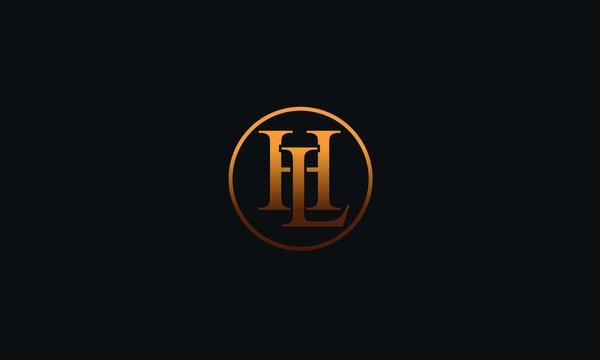 LH HL L H Letter Logo Alphabet Design Template Vector