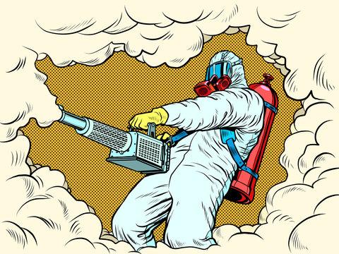 disinfection suit protection epidemic virus bacterium infection