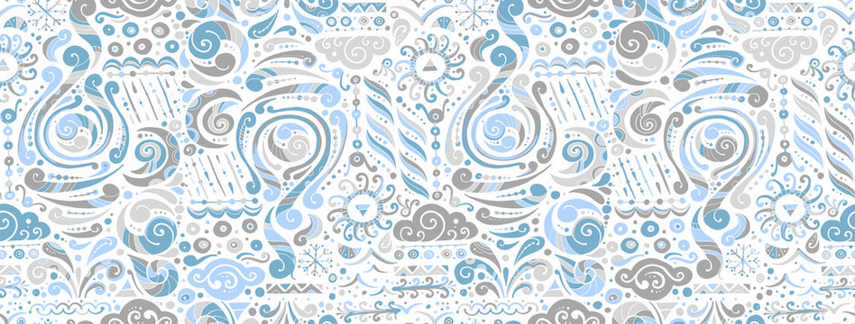 Four elements concept. Air design background. Seamless pattern print