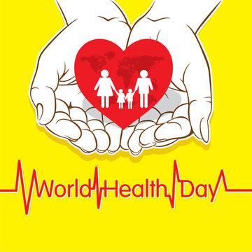 world health day concept design