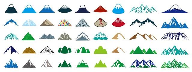 山 カラーアイコン