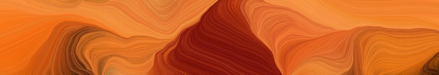 wide colored banner background with bronze, maroon and dark red color. modern waves background design Fototapete