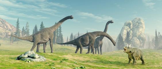 brachiosaurus in the jungle