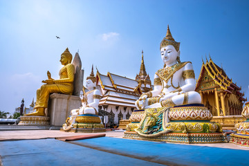 buddhist temple in center of thailand Wall mural