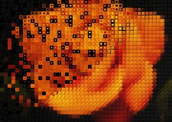 Poster Pixel Abstract colorful background texture. Festive decoration, close-up photo