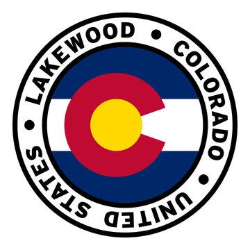 Round Lakewood Colorado United States Flag Clipart