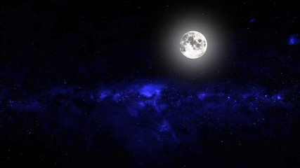 Printed roller blinds Night backgrounds night sky with stars and moon and clouds. Elements of this image furnished by NASA