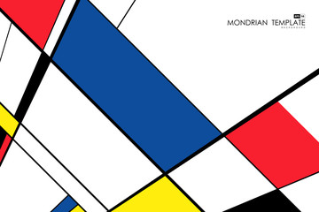 Abstract mondrian template design artwork retro perspective background. vector eps10
