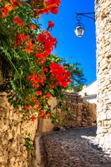 Narrow street in Gordes village in France, Provence