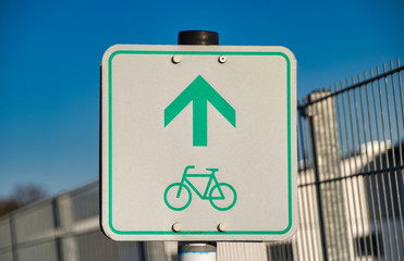 Traffic sign bike path in Germany