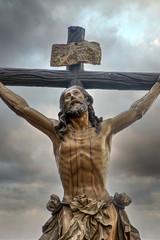 Fototapete - Jesús expirando en la cruz, semana santa en Sevilla, Hermandad del Cachorro