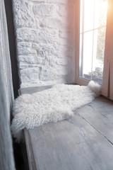 Wide window sill with window mat