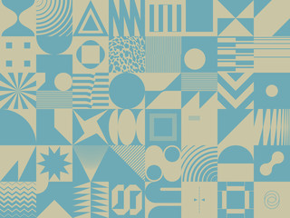 Duotone Abstract Vector Pattern Design