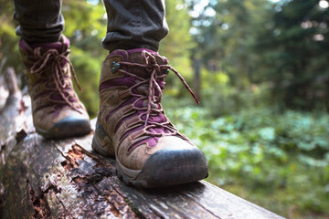 a hiking boots Fotobehang