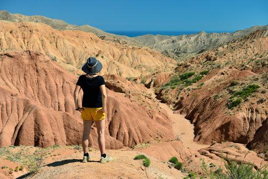 "Kyrgyzstan, View on the Fairytale canyon ""Skazka"" near Issyk Kul Lake"
