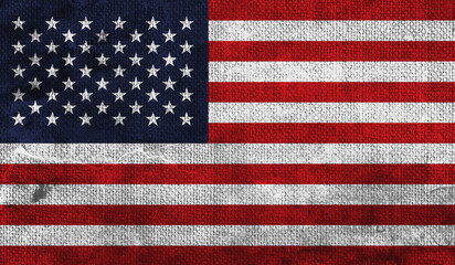 USA Flag with a Grungy Texture.  Wall mural