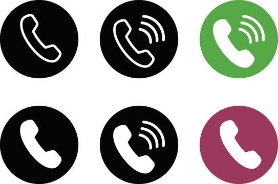 電話のアイコン/通話中/シンプル/おしゃれ