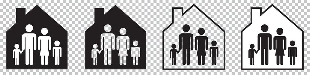 FAMILLE À L'INTÉRIEUR D'UNE MAISON Fototapete