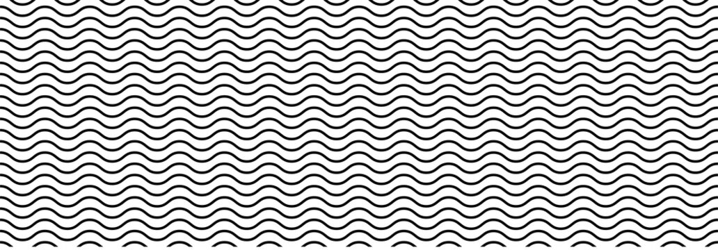 Wavy seamless pattern background. Vector illustration