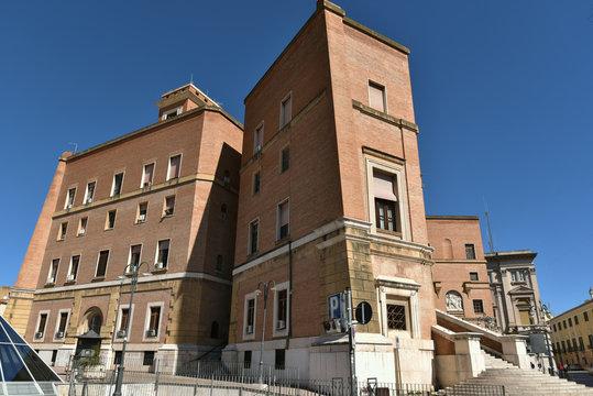 Ancient Mussolini Buildings in Foggia, Italy