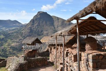 Village de la Vallée sacrée des Incas, Pérou Wall mural