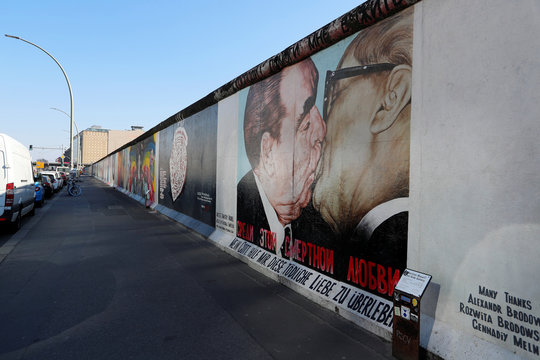 The empty East Side Gallery is pictured during the coronavirus disease (COVID-19) outbreak in Berlin