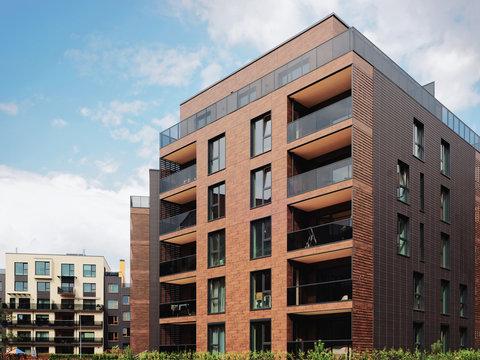 Modern European residential apartment buildings quarter
